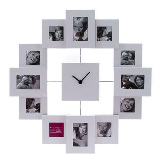 как сделать на стене часы из фото